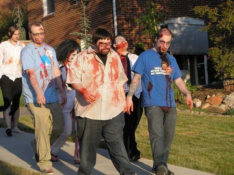Dressed up for the zombie challenge