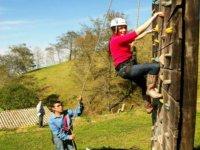 Climb the climbing wall
