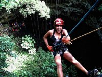 Rappel to the cenote