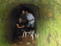 In caves