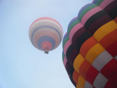 A balloon flight with your friends