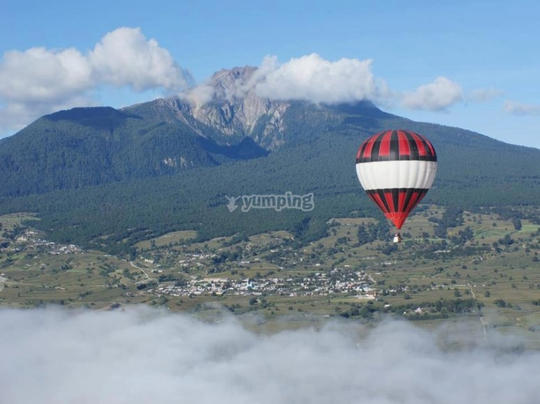 Balloon flight in Tlaxcala