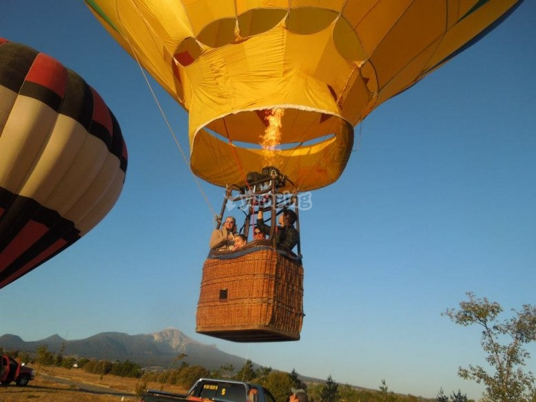 Family flights in balloon