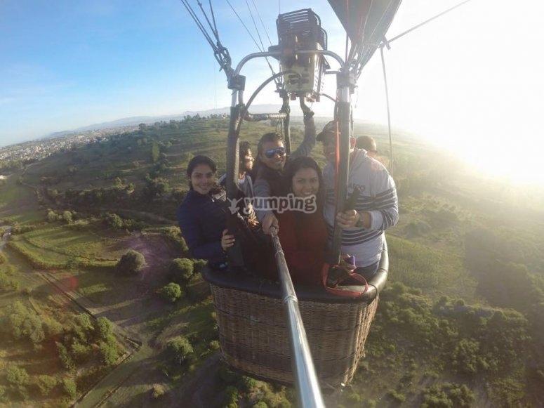 Photo during the balloon flight