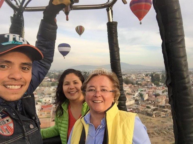 Paseo en globo compartido en Huamantla