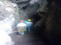 Group in the caves