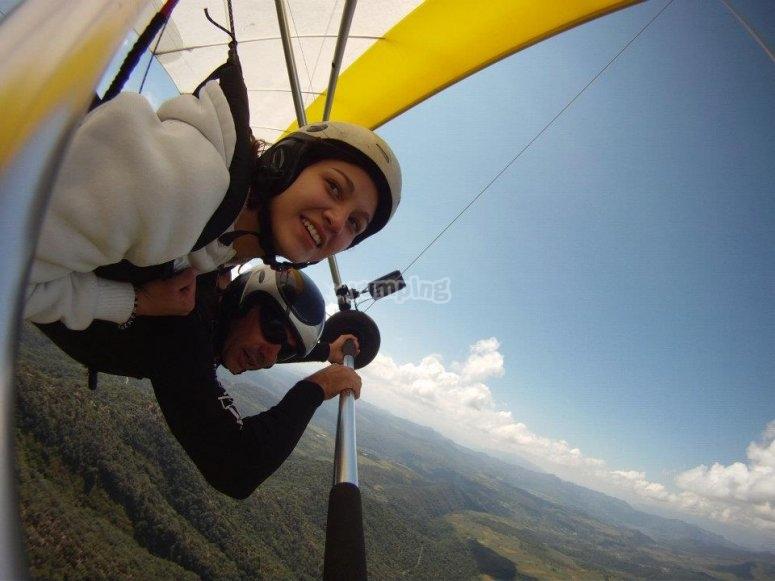 Practicas con vuelo tandem