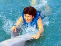 Convivir en el agua con delfines