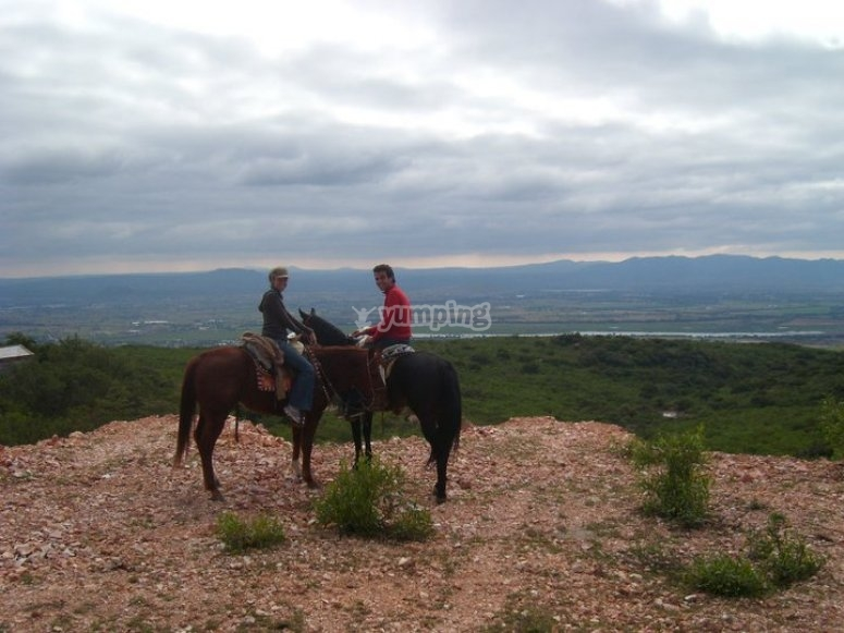 Landscapes on horseback
