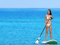 paddling in the ocean