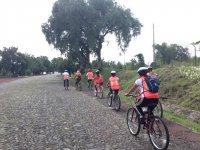 Cycling in Teotihuacan