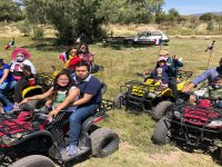 On the ATVs during the route