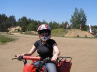 Enjoying an ATV ride