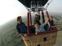 Hot air ballooning with children