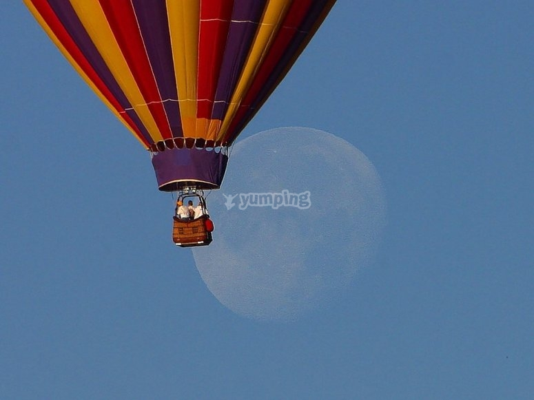 Look at the moon in summer