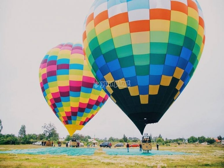 Hot air balloons in State of Mexico