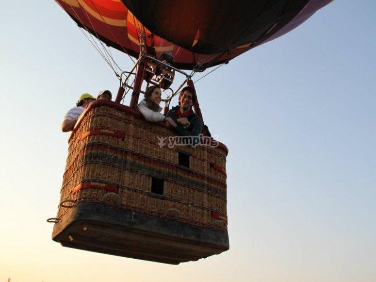 Balloon flight for anniversary