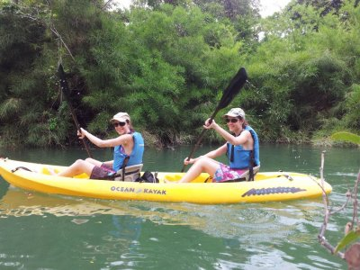 Camp 1 day with kayak, cenotes, rappel, climbing