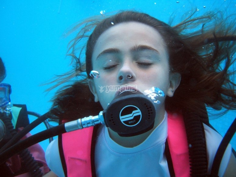 Basic diving course