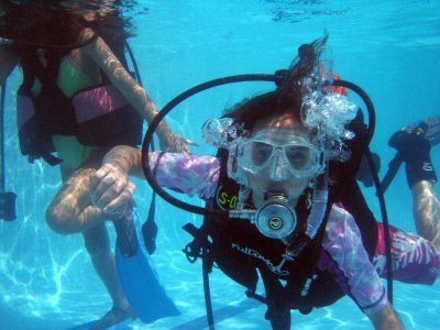 Basic diving course, 2 months.