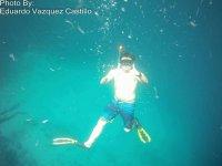 snorkeling in family