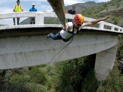 Salto de Puenting en Sierra Gorda 7 horas