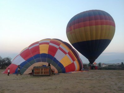 Balloon flight in Huasca de Ocampo