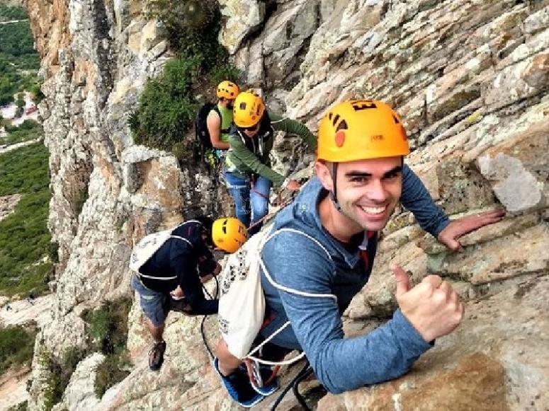 Climbing in Peña de Bernal