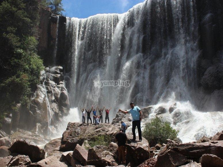 Enjoying the waterfalls