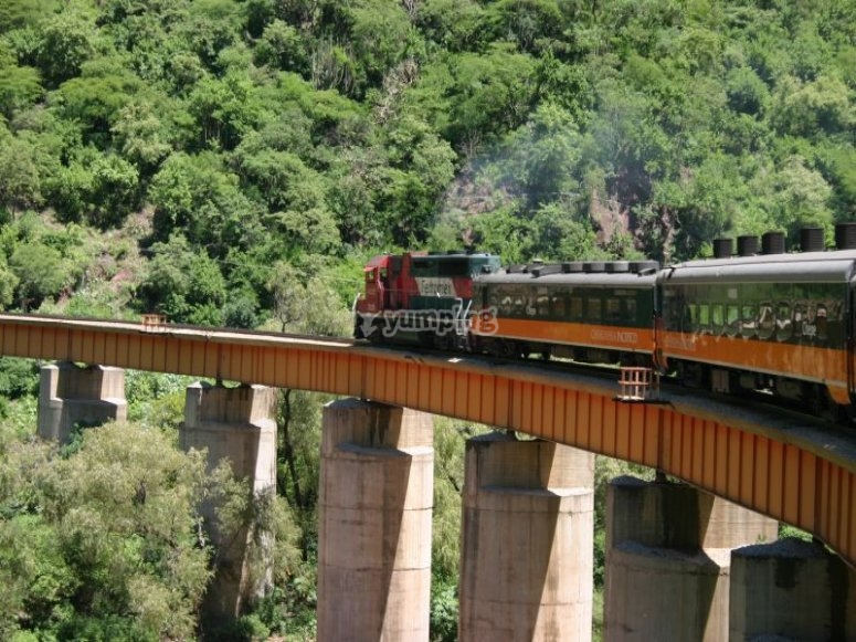 Train traveling Chihuahua