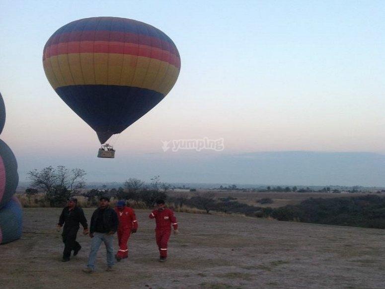 Flying at dawn