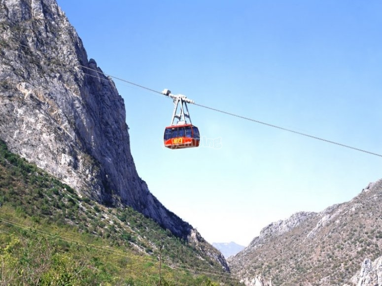 Chair lift to the caves