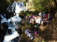 Excursion to the waterfall