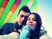 Enamorados en globo