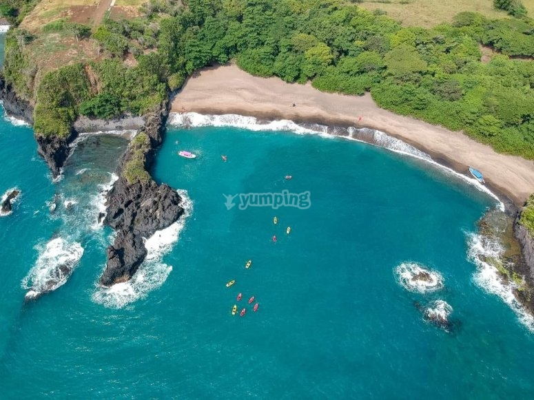 Discover Ermitas Beach and its volcanic formations in the area