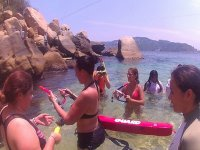 preparing for snorkeling