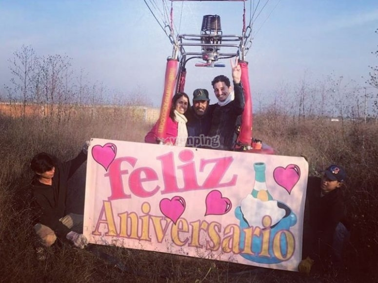 Celebrating Anniversary in a balloon