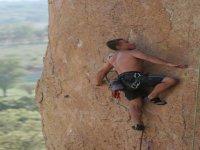 Escalada en pared de roca