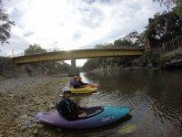 Kayaks in the Morelos River