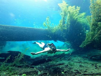 Snorkel en Laguna Azul con equipo por 5 horas