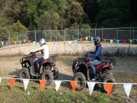Drive in an ATV track