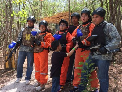 Paintball match at Campeche