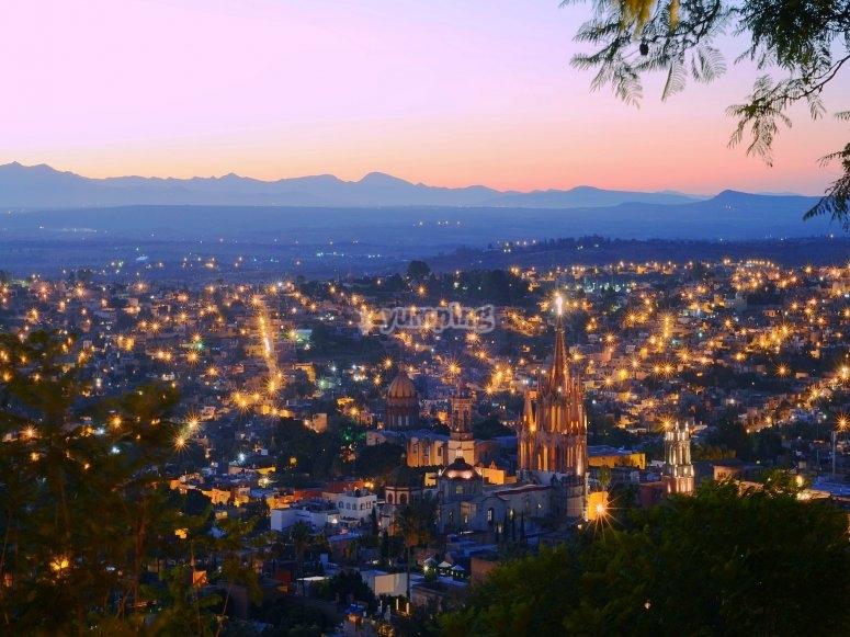 Panoramic landscape of San Miguel de Allende