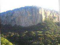 Vertical rock walls