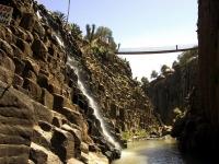 Vista lateral de los Prismas Basalticos