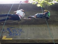 Rappel from the bridge