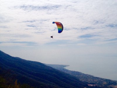 Tandem Paragliding Flight Over Chapala Lake