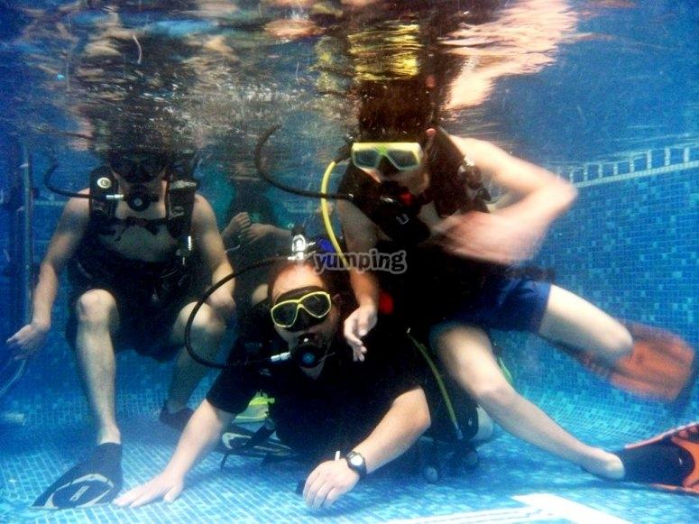breath under water