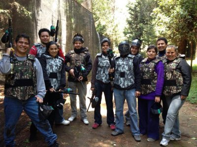 Paintball match, Santa Fe