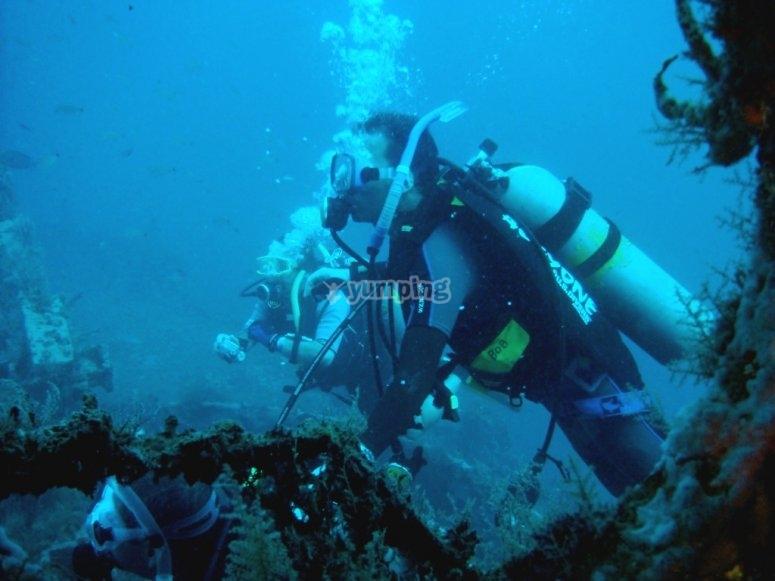 Diving in Veracruz, Ricardo and Manolo.
